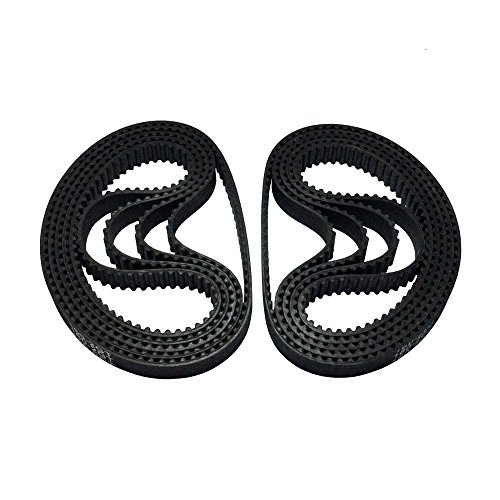 BEMONOC 2GT Rubber Timing Belt 160-2GT-6 L=160mm W=6mm 80 Teeth in Closed Loop for 3D Printer Pack of 10pcs