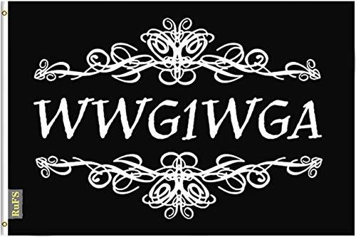 RuFS Wwgwga Qanon Q Gartenhaus einseitig Polyester Zeichen Outdoor Banner Außenwand Innenhof Banner Dekor