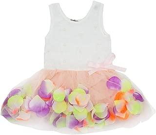 Kids Girls Princess Rose Garden Flower Petal Lace Ruffled Tulle Skirts Dresses