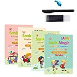 xiangqian Magic Practice Copybook Set Magic Calligraphy That can be Reused English Tracing Book Number Tracing Book for Preschool