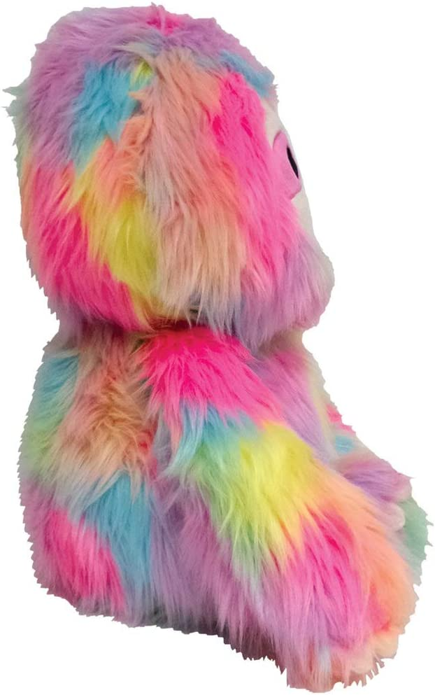 iscream Rainbow Friends Furry 14.5 Rainbow Sloth with Embroidered Accents for All Ages