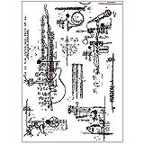 MHTEAAIIO Timbre Clair Transparent de Fond Abstrait pour Scrapbooking de Bricolage/Fabrication de Cartes C