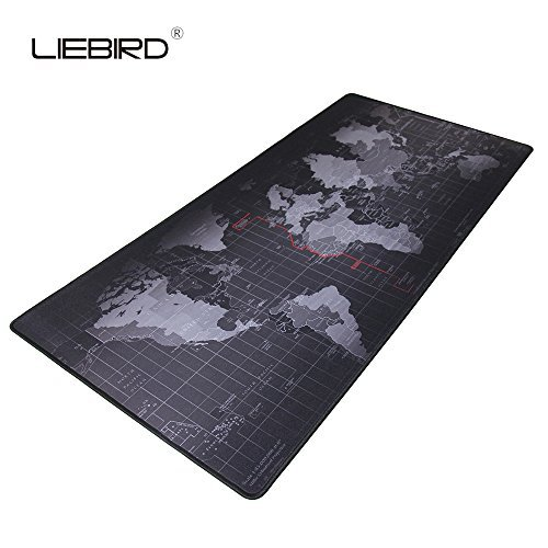 LIEBIRD Extended XXL Gaming Mouse Pad - Portable Large Desk Pad for Laptop - Non-Slip Rubber Base (XXL- 35.4'x15.7'x2.5mm)