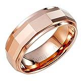 Urban Jewelry - Elegante anillo de metal de bronce de tungsteno sólido para boda de 8 mm para hombre