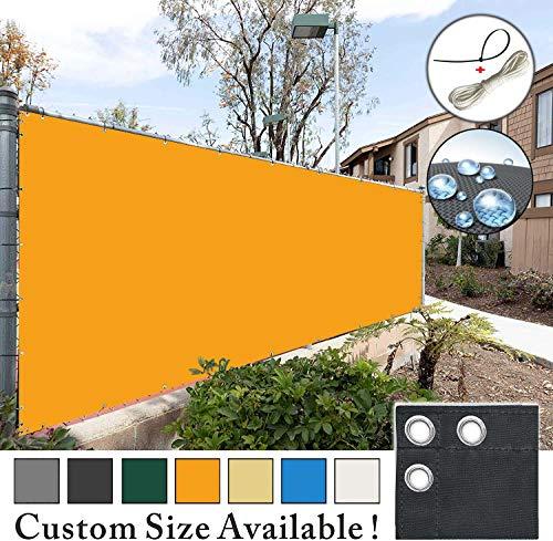 ROBAG Balkonumspannung Sichtschutz, 100% Privatsphäre Sichtschutz und Windschutz in div. Größen & Farben, Deko für Balkongeländer - Orange 1.45x4.5m
