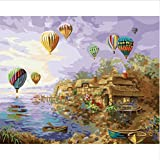 Puzzle 1000 Piezas Puzzle 3D Hot Air Balloon Tour Paisaje Diy Kit Kit Diy Regalos Wall Art 75X50Cm