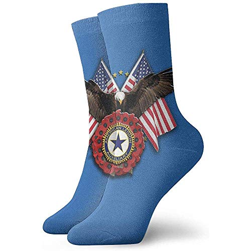 Gre Rry Hommes 'S American Legion Auxiliary Deluxe Printing Boot Chaussettes Moisture Control Thermal Socks