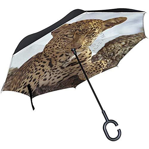 Elxf Umgekehrter Regenschirm Spanische Flagge Reverse Umbrella UV-Schutz Winddicht für Auto Rain Sun Outdoor Black