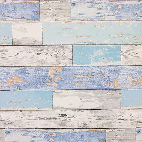 Fablon FAB12941 67.5 cm x 2 m Scrap Wood Roll - Multi-colour