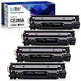 LxTek CE285A 85A Compatible Reemplazo para HP CE285A 85A Cartuchos de tóner para HP Laserjet Pro P1102W P1102 M1132 M1217NFW P1100 M1132MFP M1136 M1210 M1212 M1212NF (4 Negro)
