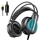 BENGOO GH1 Gaming Headset for PC, PS4 Gaming Console, USB 7.1 Surround Sound