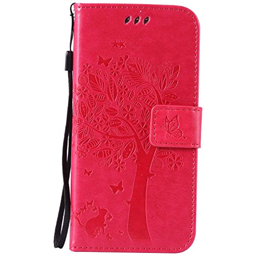 BoxTii® Coque Galaxy S7, Galaxy S7 Magnetic Housse Coque, Etui en Cuir pour Samsung Galaxy S7 (#7 Rose)
