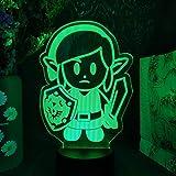 FDJHG - Luz nocturna 3D con ilusión nocturna para niños, figura de juguete con sensor de Navidad, decoración de habitación