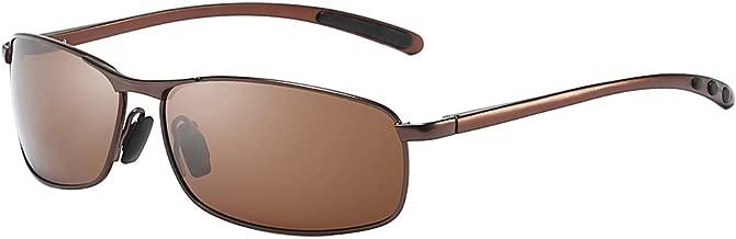 ZHILE Rectangular Polarized Sunglasses Al-Mg Alloy Temple Spring Hinge UV400