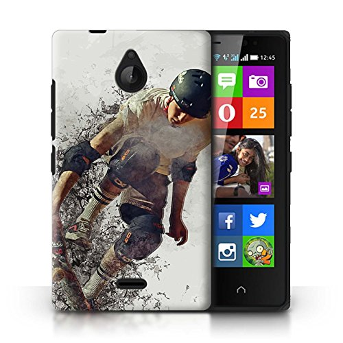Stuff4® Hülle/Case für Nokia X2 Dual SIM/Skateboard-Skizze Muster/Fragmenten Kollektion