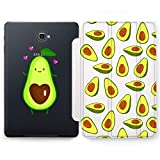Wonder Wild Avocado Heart Samsung Galaxy Tab S4 S2 S3 A E Smart Stand Case S6 S5e 2019 2017 2018 Tablet Cover 8 9.6 9.7 10.1 10.5 Inch Clear Design Cute Fruits Pattern Drawn Hearts Kawaii Tropical