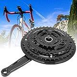 Fahrrad-Kurbelsatz, langlebig und stabil, einfach zu bedienen, feine Verarbeitung, Hartstahl für Mountainbike, Rennrad