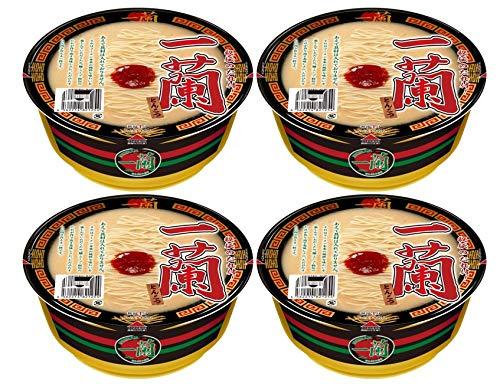 【まとめ買い 4個セット 】 一蘭 とんこつ カップ麺 カップラーメン 秘伝のたれ付