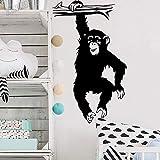 Calcomanías de pared de mono pegatinas de pared para habitación de niños decoración animales de la selva vinilo autoadhesivo dormitorio de pared