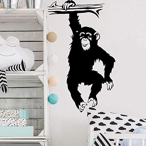 Calcomanías de pared de mono pegatinas de pared para...