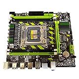 Newwiee Fit for la Placa Base de la computadora de Escritorio X79, la Interfaz 2011 Pin M.2 es Compatible con la Placa Base del Juego de Memoria Intel DDR3 RECC