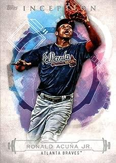 2019 Topps Inception Baseball #100 Ronald Acuna Jr. Atlanta Braves Official MLB Trading Card