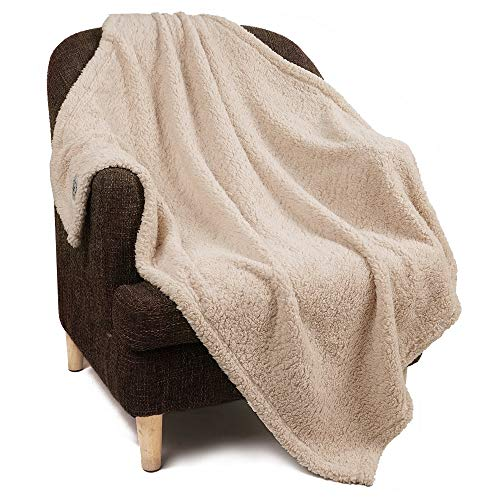 Garatia 1 Paquete de 3 Mantas Súper Suave y Esponjosa de Lana Premium para Mascotas Perros Gatos Marrón Claro S (45 x 75 cm)