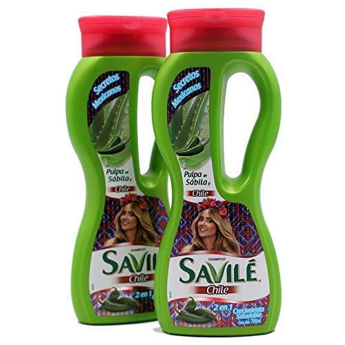 Savilé Chile Shampoo, Cleansing Shampoo to Help you Prevent Hair Loss with Pepper and Áloe for all kind of hair, 2-pack Of 25.36 Fl Oz Bottles, clear white