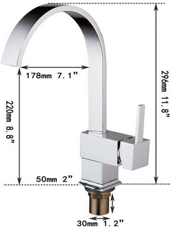 Taps Kitchen Sinkcontemporary New Polished Chrome Brass Kitchen Bathroom Faucet Single Vessel Mixer Tap