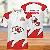 NFL T-Shirts Kansas City Chiefs Hommes Football Américain Maillots Polo Shirts pour Les Hommes Et Les Femmes T-Shirt Supporters Rugby Football Football Fans Unisexe XXL