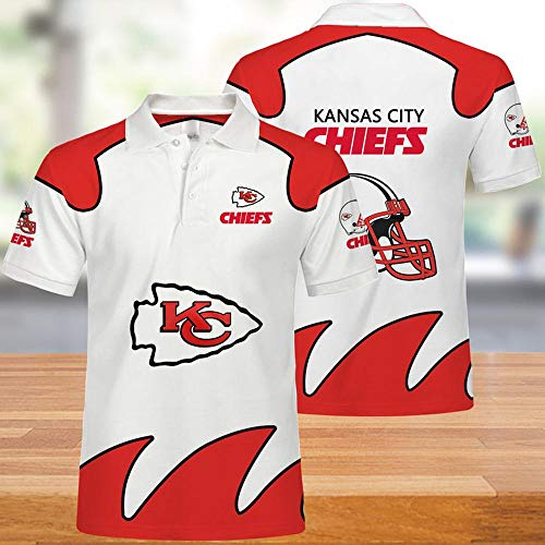 NFL-T-Shirts Kansas City Chiefs Männer American Football Trikots Polo Shirts Für Männer Und Frauen T-Shirt Rugby Football Supporters Football Fans Unisex XL