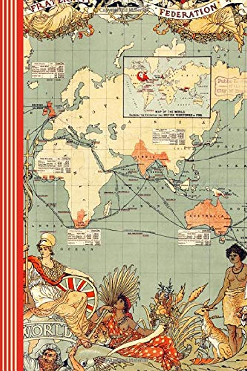 Composition Notebook - British Empire: Sketch Paper Journal - Blank Book For Sketching, Drawing, Doodling  - Historical Great Britain Geography Map