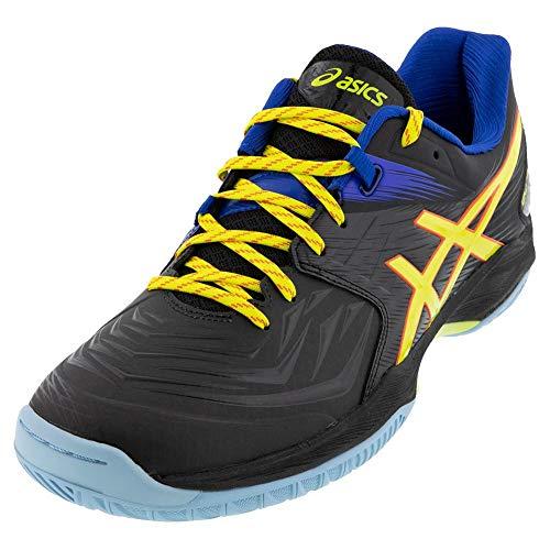 ASICS Men's Blast FF Court Shoes, 12, Black/Sour Yuzu