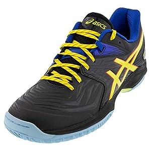 ASICS Men's Blast FF Court Shoes, 8, Black/Sour Yuzu