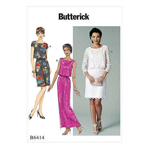 Butterick Schnittmuster 6414Overlay Mieder Kleider