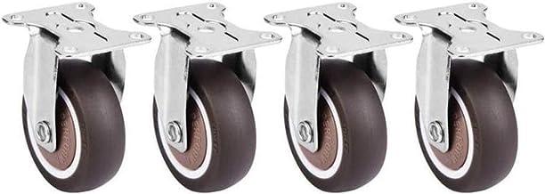 Beter Castor 4piece 2 inch universele wielen voor platform trolley stoel lage ruis TPE rubberen afneembare mute stoel vast...