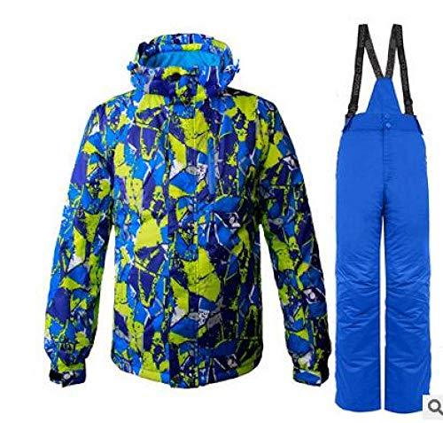 YHWW Combinaison de Ski Wild Snow New Ski Thermal Suit Vêtements de Snowboard Imperméable Coupe-Vent Hiver Neige Costumes Veste Pantalon Ensembles Combinaisons Ski, 3, XXL