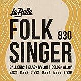 La Bella 653927 Corde per Chitarra Classica Folk Singer...