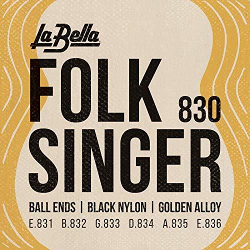 La Bella 653927 Corde per Chitarra Classica Folk Singer
