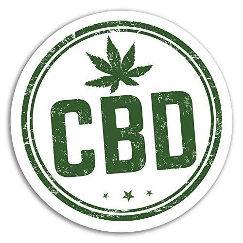 2 x 10cm CBD Oil Vinyl Stickers - Cannabis Weed Sticker Laptop Luggage #17983 (10cm Wide)