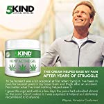 Hemp Joint & Muscle Active Relief Gel- High Strength Hemp Oil Formula Rich in Natural Extracts by 5kind. Soothe Feet… 5