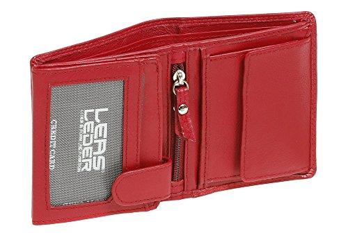 LEAS Mini-Kombibörse Echt-Leder, rot Mini-Edition