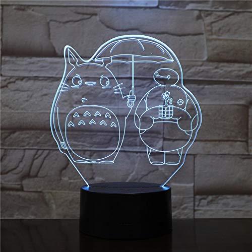 hqhqhq luz de Noche Led única para niños mi Vecino luz de Noche para Dormitorio Infantil Regalo de cumpleaños para niños lámpara de Noche Led Big Hero 6 Baymax 111