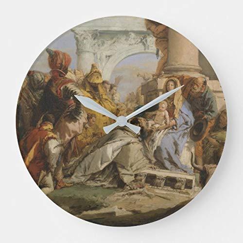 The Magi - Reloj de pared (funciona con pilas, silencioso, no hace tictac), diseño de arte