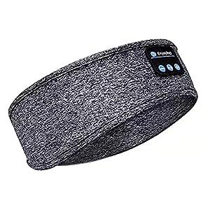 Cuffie da sonno Bluetooth fascia per la musica Super Soft Uomini e Donne Sonno con Cuffie sportive wireless integrate ad alta definizione stereo per corsa, viaggi, ufficio, yoga lateralmente