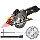 "Circular Saw, TECCPO 4-1/2"" 3500 RPM 4 Amp Compact Circular Saw with Laser Guide, 24T..."
