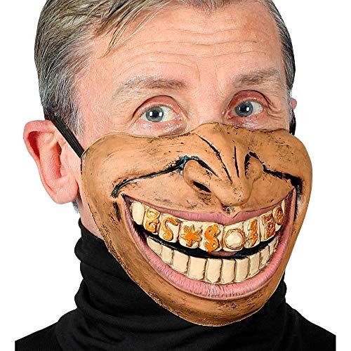 Widmann 01145 Rapper Halbmaske für das untere Gesicht, Herren, Hautfarben, Einheitsgröße