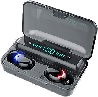 TreeLeaff F9-8 Bluetooth 5.0 Auriculares inalámbricos TWS Auriculares en el oído, luz respiratoria de huellas dactilares Control de contacto 50/3500mah HiFi Calidad de sonido Led Potencia Alta Claridad CE/FCC/ROHS