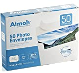 50 White A4 4x6 Photo Envelopes SELF SEAL - Fits 4 x 6 Photos, Invitations, Strong SELF-SEAL Closure, Size 4.5 x 6.25 Inch, 24lb, White, 50 Pack(36050)