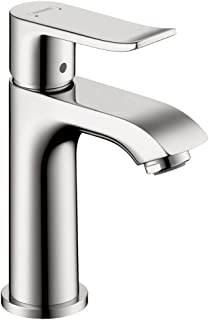 hansgrohe Metris Modern 1-Handle 6-inch Tall Bathroom Sink Faucet in Chrome, 31088001